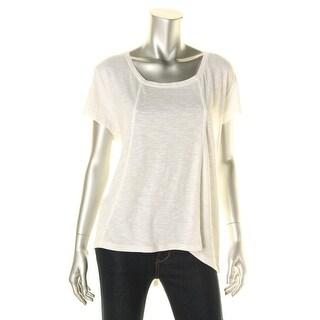 Sun & Shadow Womens Modal Blend Slub T-Shirt - XL