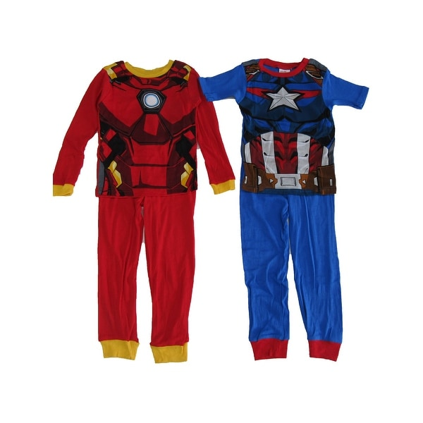 The Avengers Captain America Hoodie One Piece Fleece Pajamas Marvel Size Medium