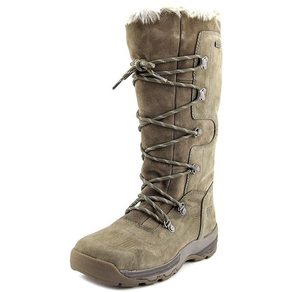 Caterpillar Devlin Women Round Toe Leather Gray Winter Boot
