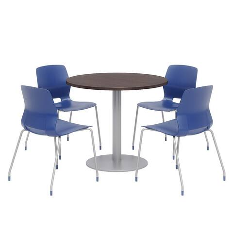 Olio Designs Round Dining Table Set, Lola Chairs, Espresso