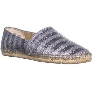 Enzo Angiolini Austyn Espadrille Sandals, Pewter Silver