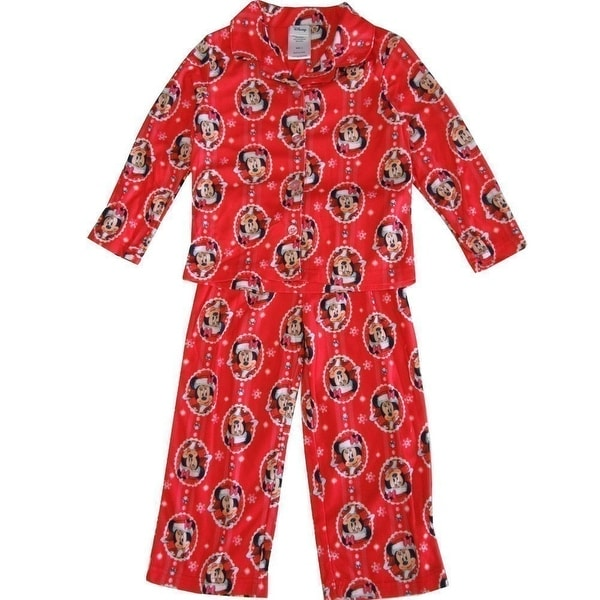Shop Disney Little Girls Red Minnie Mouse Christmas Print