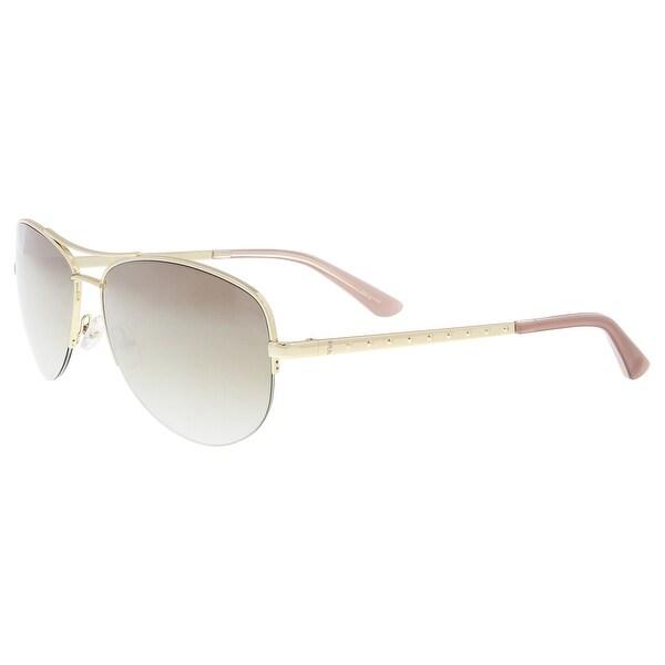 0b4eea3ed2 Shop Juicy Couture JU 594 S 03YG NQ Light Gold Aviator Sunglasses ...