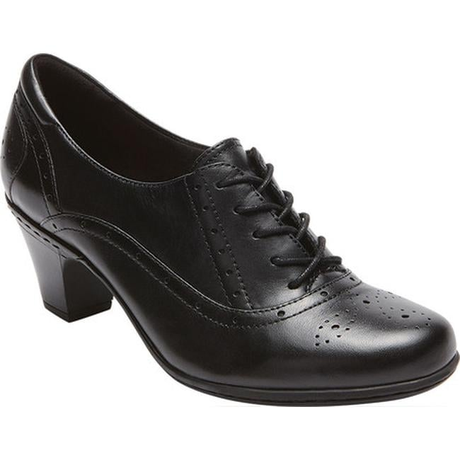 Rockport Women's Cobb Hill Shayla Lace-Up Black Leather