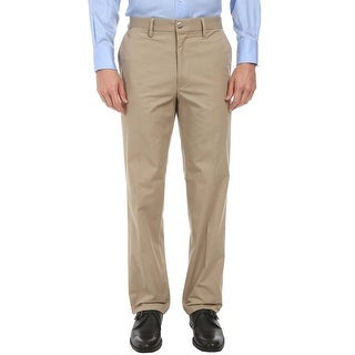 Dockers Signature Straight Fit Khaki Flat Front Casual Pants 34 x 32