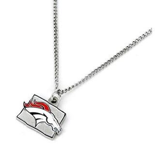 Denver Broncos Necklace State Design