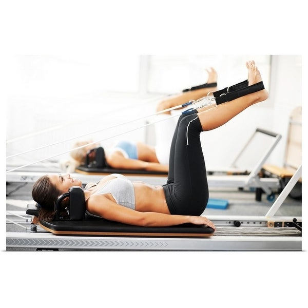 """Women doing pilates"" Poster Print"
