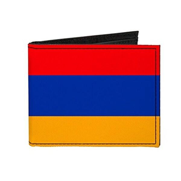 Buckle-Down Canvas Bi-fold Wallet - Armenia Flag Accessory