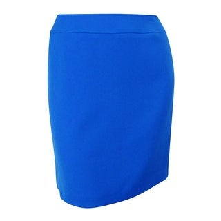 Tahari Women's Back Center Vent Pencil Skirt - Island Blue - 18W