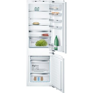 """Bosch B09IB81 24"""" Wide 9.6 Cu. Ft. Energy Star Rated Built-In Refrigerator with Home Connect - Panel Ready - N/A"""