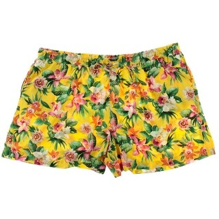 American Living Womens Floral Print Pull On Casual Shorts - L