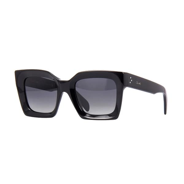 Shop Black Friday Deals On Celine Unisex Squared Cl40130i Sunglasses Black Polarized One Size Overstock 31793867