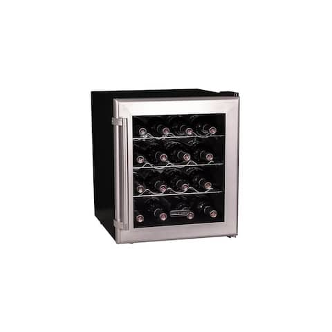 "Koldfront TWR160 17"" Wide 16 Bottle Wine Cooler with Thermoelectric Cooling - Stainless Steel"