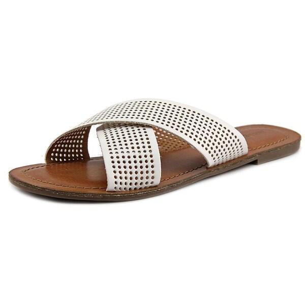 Indigo Rd. Bevrlie Women Open Toe Synthetic White Slides Sandal
