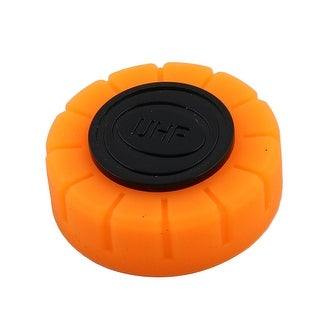 Stage Interview KTV Wireless Microphone Battery Screw End Cover Orange 30mm Dia