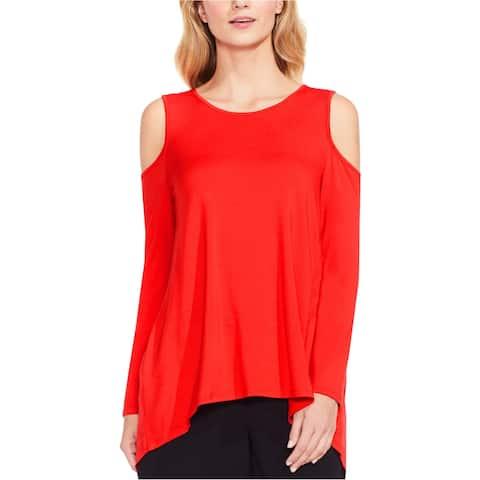 Vince Camuto Womens Cold Shoulder Basic T-Shirt