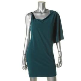 Halston Heritage Womens Asymmetrical One-Shoulder Cocktail Dress - 2
