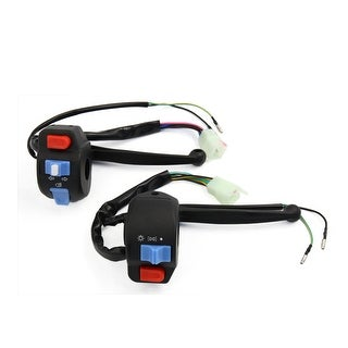 Unique BargainsPair Motorcycle Handlebar Horn Turn Signal Headlight Electrical Start Switch