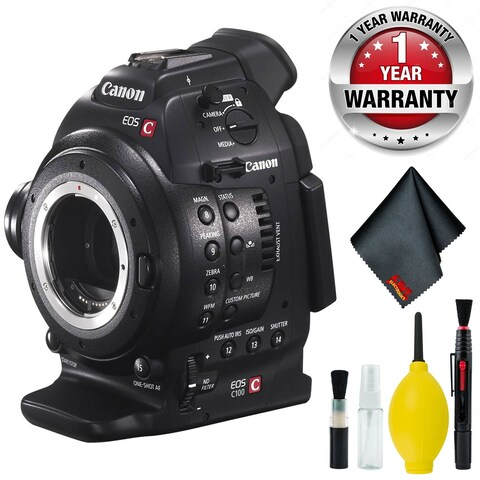 Canon EOS C100 Cinema EOS Camera with Dual Pixel CMOS AF (Body Only) Body Only