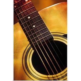 """Close up of guitar"" Poster Print"