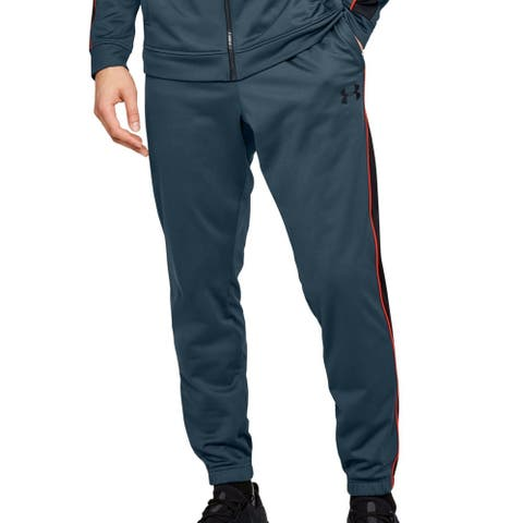 Under Armour Men Unstoppable Track Pant Slate Blue Large L Loose Jogger