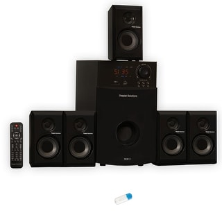Theater Solutions TS514 Home 5.1 Powered Speaker System with USB Bluetooth