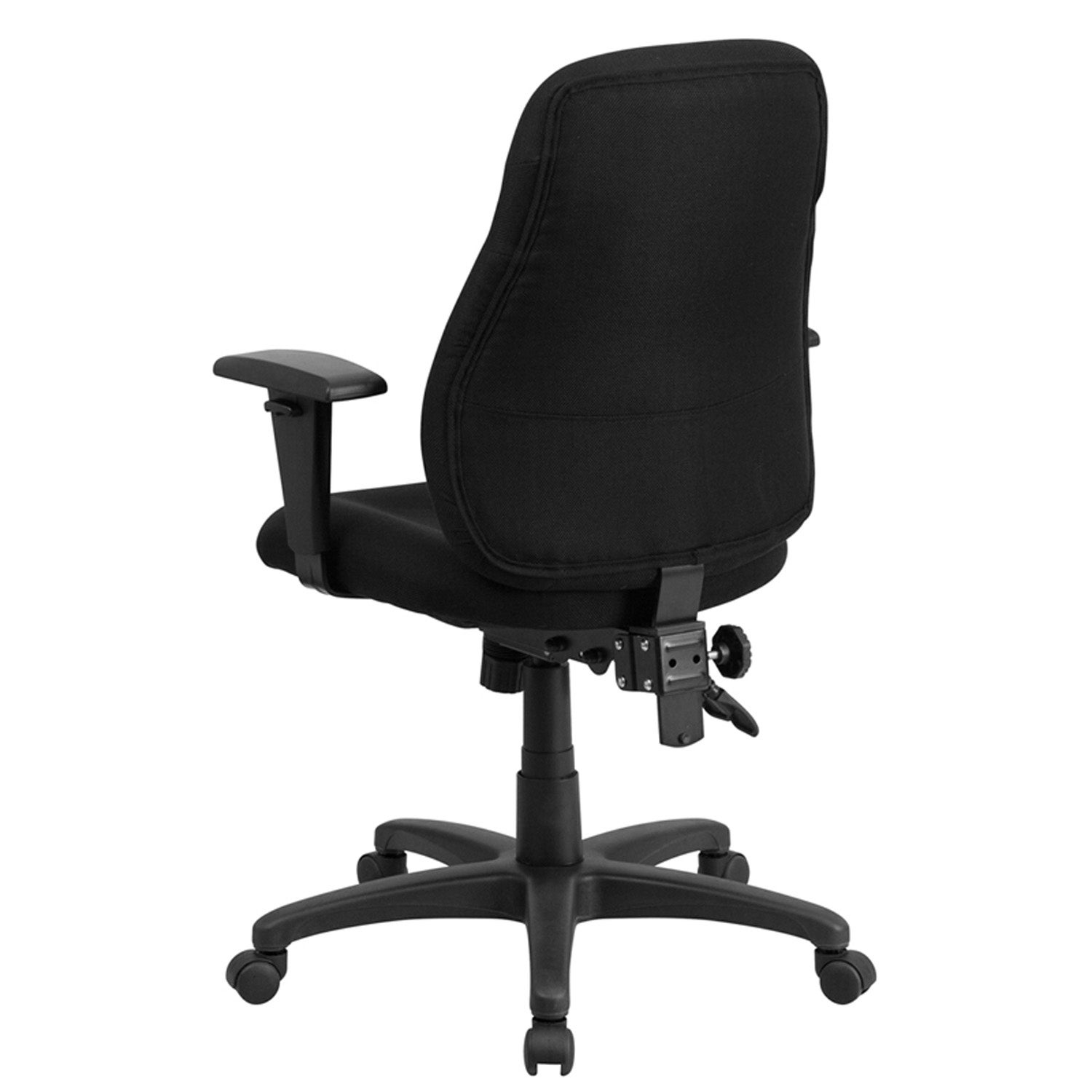 Shop Silkeborg Mid Back Black Fabric Ergonomic Swivel Home Office Task Chair Arms On Sale Overstock 16627376