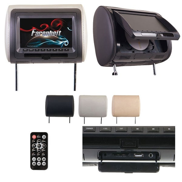 "Farenheit Replacement Headrest 7"" LCD"