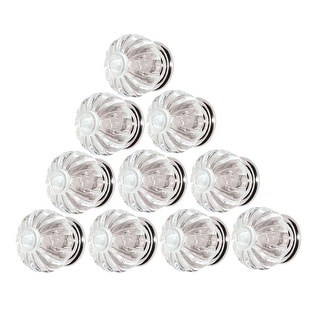 Link to 10 Clear Acrylic Cabinet Knobs and Pulls 1 1/4 Inch Dia Chrome Back Similar Items in Hardware