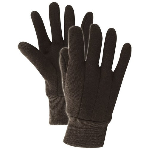 Handmaster T1052T Men's Heavy Weight Jersey Work Gloves, Brown, Large