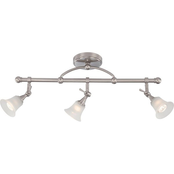 "Nuvo Lighting 60/4154 Surrey 3 Light 5-1/2"" Wide Fixed Rail Ceiling Fixture - Brushed nickel - N/A"