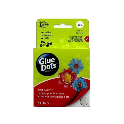 08165-200 glue dots craft 1 2 box clear 200pc