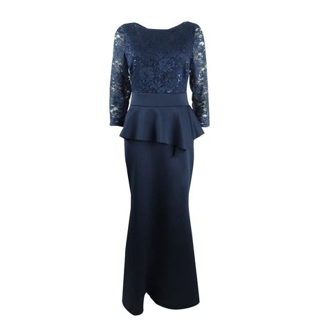 Jessica Howard Women's Peplum Gown
