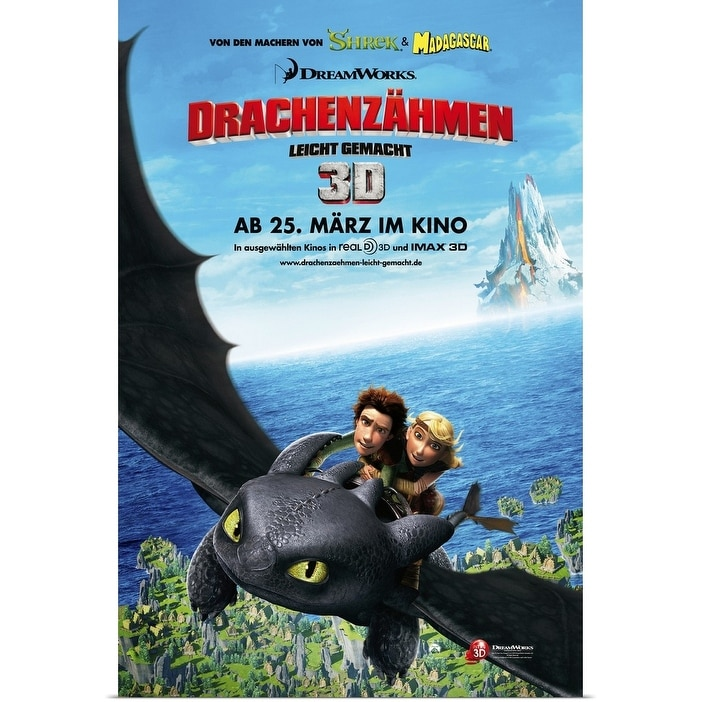 Shop Black Friday Deals On How To Train Your Dragon 2010 Poster Print Overstock 24132277