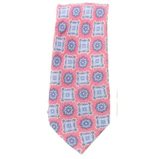 Original Penguin NEW Red Laven Motif Printed Mens Nylon Skinny Necktie