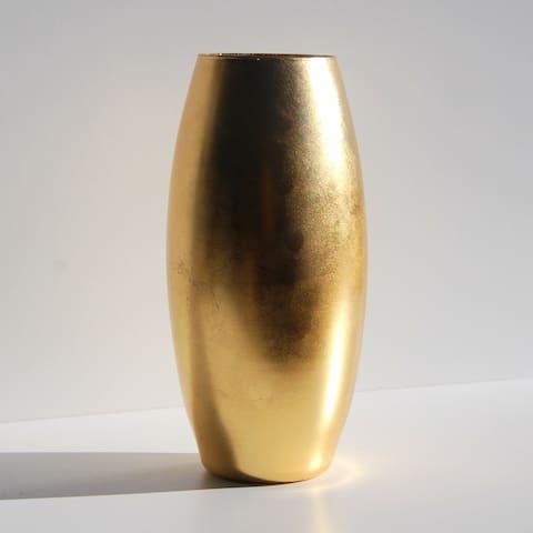 """GILT 10"""" Gilded Flower Vase"""
