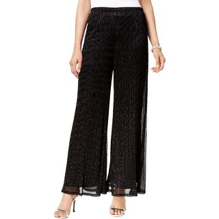 MSK Womens Palazzo Pants Metallic Wide Leg (2 options available)