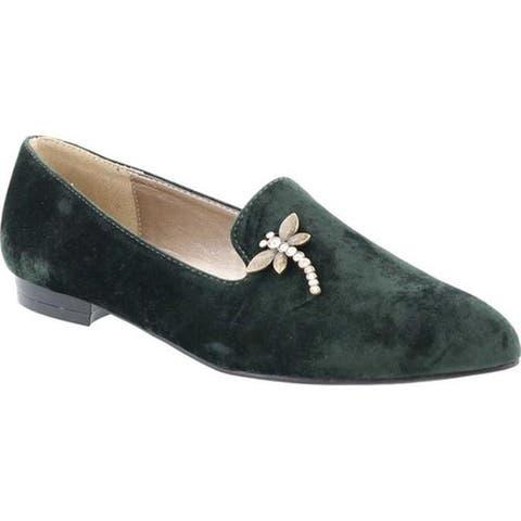 Bellini Women's Dragonfly Flat Loafer Green Velvet