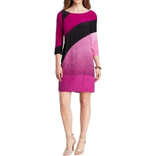 Diane Von Furstenberg Womens Sienna Party Dress Silk Colorblock
