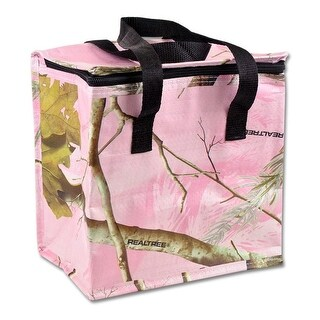 """9"""" Pink and Pickle Green Tropical Theme Decorative Insulated Cooler Bag"""