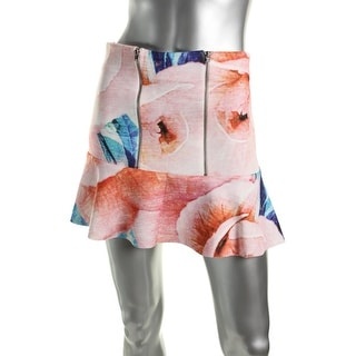 Zara Trafaluc Womens Floral Print Unlined Flare Skirt - S