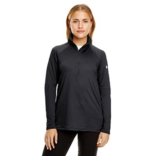 Women's Under Armour 130132 UA Tech Quarter Zip Black Medium