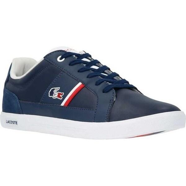 3193b073c ... Men s Shoes     Men s Sneakers. Lacoste Men  x27 s Europa 1 Leather  Sneaker Navy White Leather