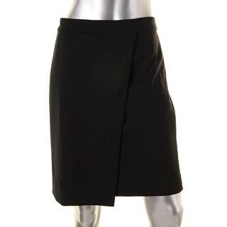 Anne Klein Womens A-Line Skirt Faux Wrap Above Knee