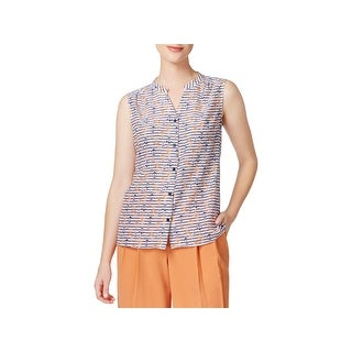 Nine West Womens Pullover Top Sleeveless Printed