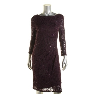 Jessica Howard Womens Cocktail Dress Sequined Lace