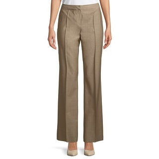 Lafayette 148 Beige Womens Size 10 Menswear Pleated Dress Pants