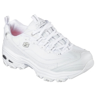 Skechers Sport Women's D'lites Fresh Start Fashion Sneaker, White Silver