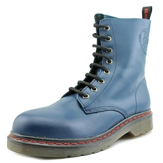 Diesel Brave   Round Toe Leather  Combat Boot