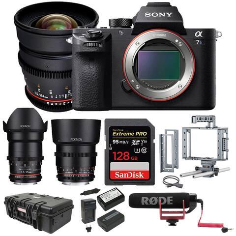 Sony Alpha a7S II Mirrorless Camera w/ 3-Lens Kit & 128GB Card Bundle